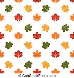 seamless, modello, di, autunno parte