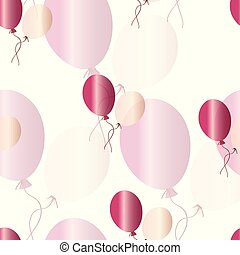 seamless, modello, vettore, palloni, rosa