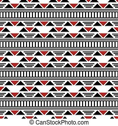 Seamless modern contrasty pattern of lines, dashes,...