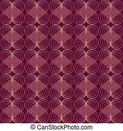 Seamless modern pattern. In vintage art deco style. Trend ...