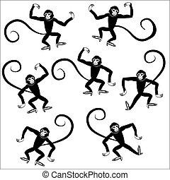 seamless monkey animal vector illustration