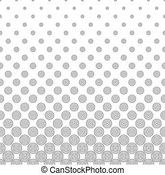 Seamless monochromatic vector circle pattern - Seamless...