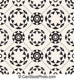 seamless monochrome abstract flower pattern background