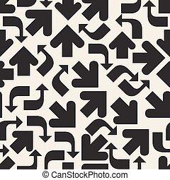 seamless monochrome arrow pattern background