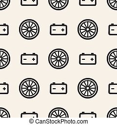 seamless monochrome car repairs symbol pattern background