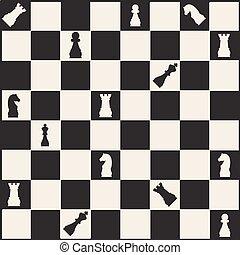 seamless monochrome  chess pattern background