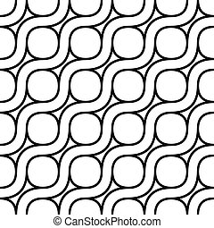 Seamless monochrome curved pattern