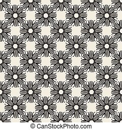 seamless monochrome floral pattern background