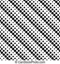 Seamless monochrome geometrical abstract dot pattern background design