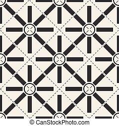 seamless monochrome mix geometric pattern background