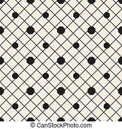 seamless monochrome octagon pattern background