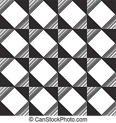 seamless monochrome  ornament squares