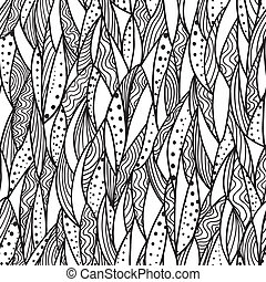 Seamless monochrome pattern - Abstract background with ...