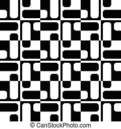 Seamless Monochrome Pattern - Abstract Square Pattern....