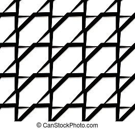 Seamless monochrome pattern, background. Editable vector art.