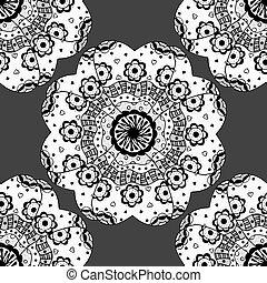seamless monochrome pattern.