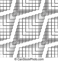 Seamless Monochrome Pattern - Vector Seamless Monochrome...