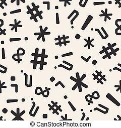 seamless monochrome symbol pattern background