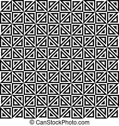 Seamless monochrome triangle pattern design