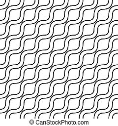 Seamless monochrome wave pattern - Abstract seamless...