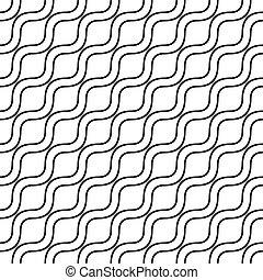 Seamless monochrome wave pattern