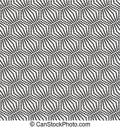 seamless, monocromo, patrón, geométrico, con, círculos
