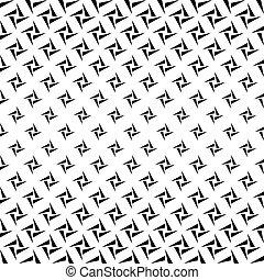 seamless, monocromo, rectángulos, de, triángulos, patrón