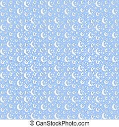 seamless moon pattern vector illustration