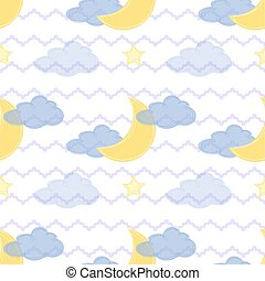 seamless moon star pattern
