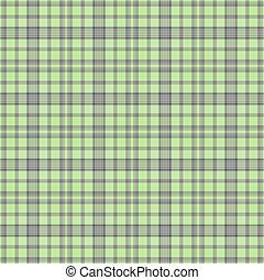 seamless, morbido, verde, plaid