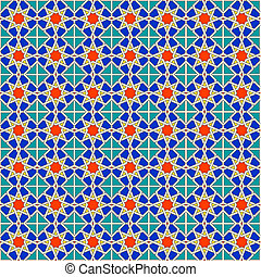 Seamless Moroccan pattern background, vector Eps8 image.