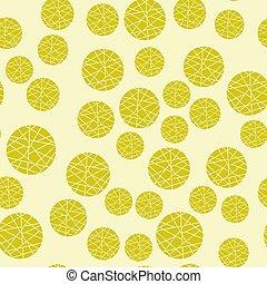 seamless, mosaïque, conception géométrique, modèle, fond, beige, résumé, jaune, vecteur, elements., packaging., tissus, emballages, circles.