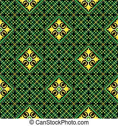 Seamless mosaic casino pattern