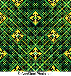 Seamless mosaic casino pattern