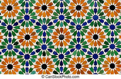 Seamless mosaic tile pattern