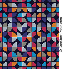 Seamless mosaic tiles pattern in retro style.