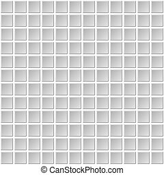 Seamless Mosaic Tiles Texture with White Filling. Vector
