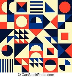 seamless, motívum, -, háromszögek, vektor, 70, beijedt, ...