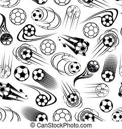 seamless, motívum, közül, futball labda