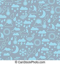 seamless, motívum, közül, időjárás, icons.