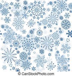 seamless, motívum, közül, tél