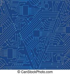 Seamless motherboard pattern