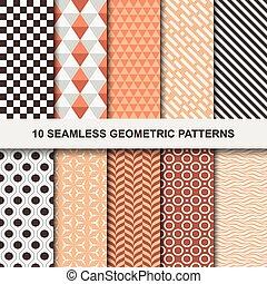 seamless., motieven, geometrisch, vector, -