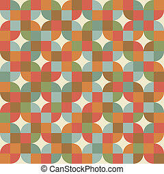 seamless, mozaika, dachówki, próbka, w, retro, style.