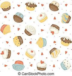 Seamless muffin pattern