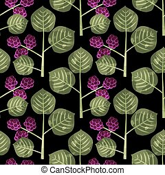 Seamless mulberry pattern - Seamless mulberries decorative...