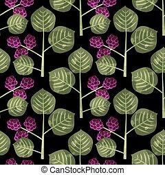 Seamless mulberry pattern - Seamless mulberries decorative...