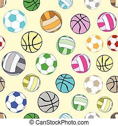 Seamless multi-colored balls