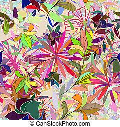 seamless, multicolor, padrão floral