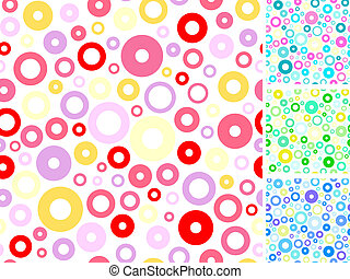 Seamless multicolored backgrounds.